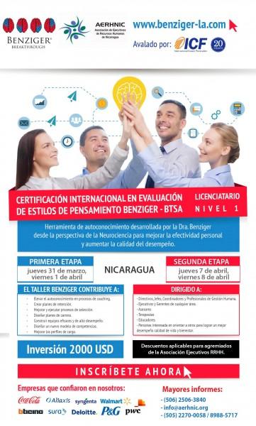 Certificación Internacional de Estilos de Pensamiento Benziger - BTSA