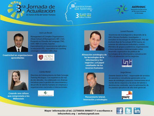 Expositores 3ra Jornada de Actualización