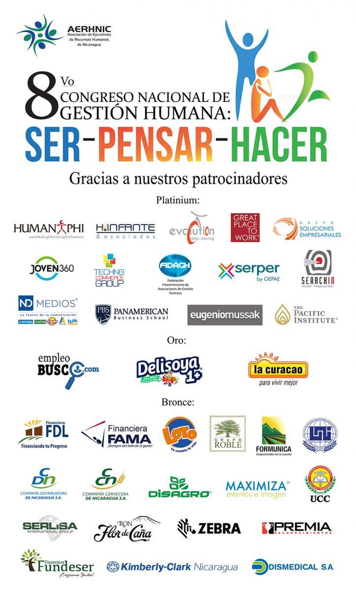 8vo Congreso de Gestión Humana. Gracias a nuestros patrocinadores.